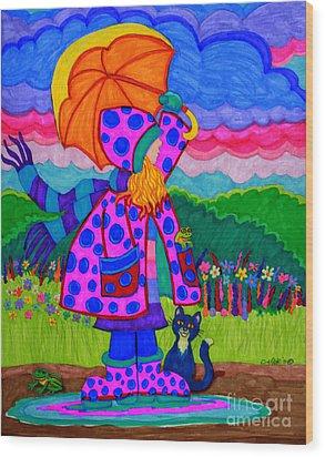 Ready For The Rain Wood Print by Nick Gustafson