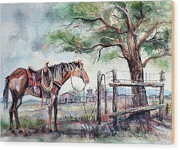 Ready Wood Print by Linda Shackelford