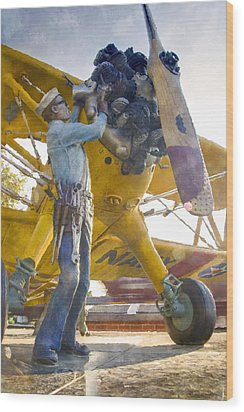 Ready To Fly Wood Print by Ricky Barnard