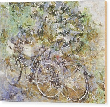 Ready To Ride Wood Print by Shirley Stalter