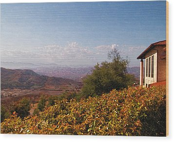 Reagan Library Overlook Wood Print by Glenn McCarthy Art and Photography