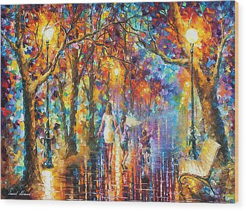 Real Dreams   Wood Print by Leonid Afremov