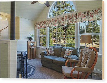 Wood Print featuring the photograph Real Estate Sitting Room by James Eddy