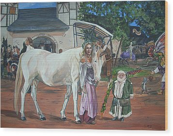 Wood Print featuring the painting Real Life In Her Dreams by Bryan Bustard