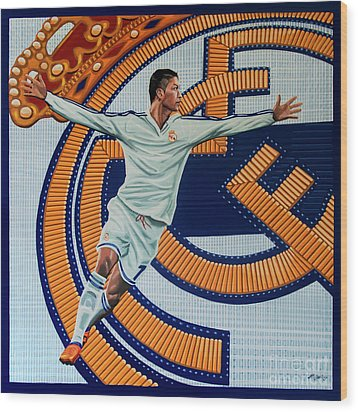 Real Madrid Painting Wood Print by Paul Meijering