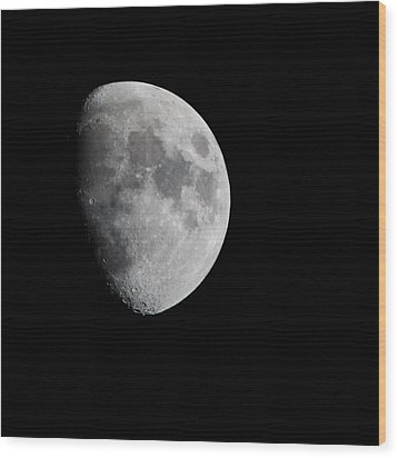 Real Moon Wood Print by Tom Dowd