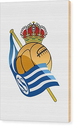 Real Sociedad De Futbol Sad Wood Print by David Linhart