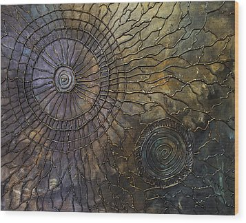 Wood Print featuring the painting Rebirth by Patricia Lintner