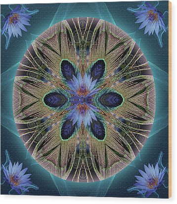 Rebirth Rising Wood Print