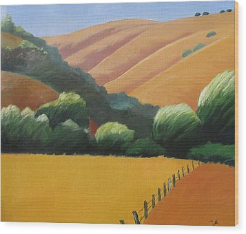 Receeding Hills Wood Print by Gary Coleman