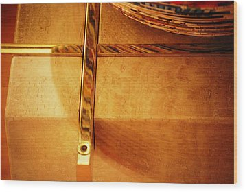 Recessed And Reflected Wood Print by Peter  McIntosh