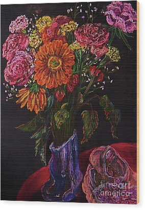Recital Bouquet Wood Print by Emily Michaud