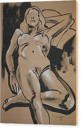 Reclining Female 1 Wood Print