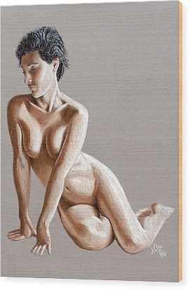Wood Print featuring the painting Reclining Figure by Joseph Ogle