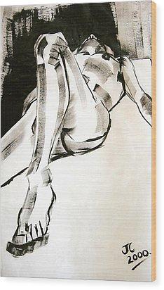 Reclining Male Wood Print
