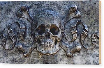 Recoleta Skull Wood Print by Rob Tullis