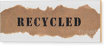 Recycled Wood Print by Olivier Le Queinec