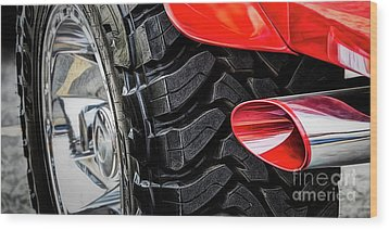 Wood Print featuring the photograph Red 4x4 by Brad Allen Fine Art