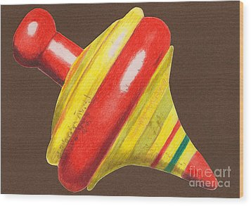Red And Yellow Top Wood Print