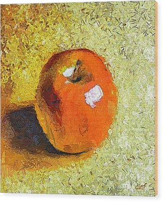 Wood Print featuring the painting Red Apple by Dragica  Micki Fortuna