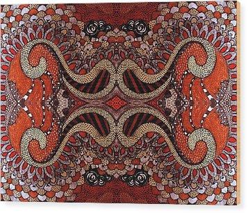 Red Wood Print by Ariela
