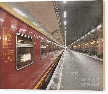 Red Arrow Express Wood Print