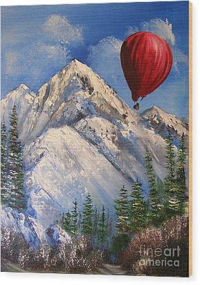 Red Balloon  Wood Print by Crispin  Delgado