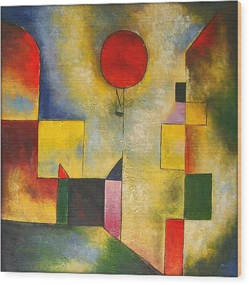 Red Balloon Wood Print by Paul Klee