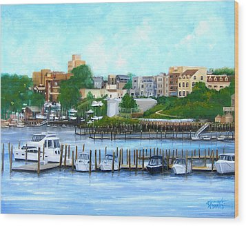 Red Bank From The Molly Pitcher Hotel Wood Print
