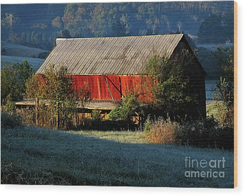 Wood Print featuring the photograph Red Barn by Douglas Stucky