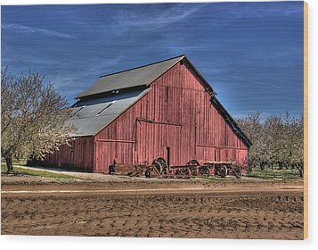 Wood Print featuring the photograph Red Barn by Jim and Emily Bush