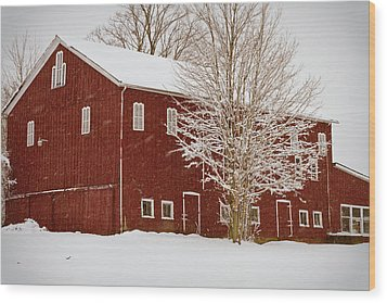 Red Barn IIi Wood Print by Tim Fitzwater