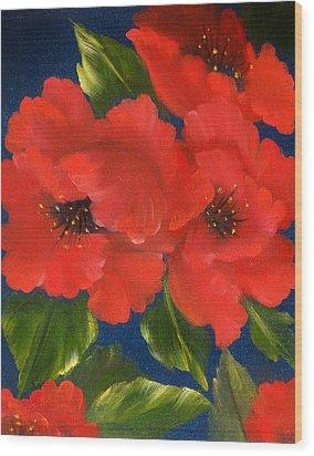 Red Beauty Wood Print by Joni McPherson