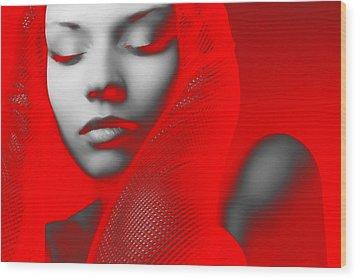 Red Beauty  Wood Print by Naxart Studio
