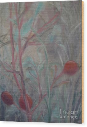 Red Berries I Wood Print by Sabina Haas