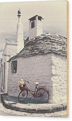 Red Bicycle Wood Print by Joana Kruse