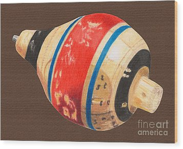 Red Black And Blue Top Wood Print