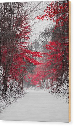 Red Blossoms  Wood Print by Parker Cunningham