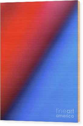 Wood Print featuring the photograph Red Blue by CML Brown