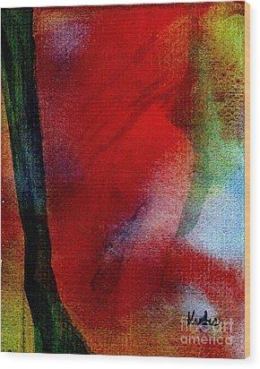 Red Boudoir Wood Print by Susan Kubes