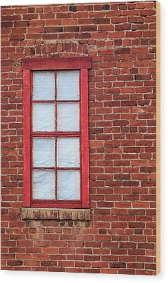 Wood Print featuring the photograph Red Brick And Window by James Eddy
