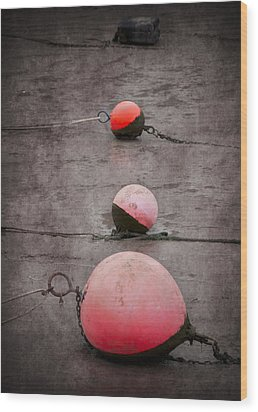 Red Buoys  Wood Print by Svetlana Sewell