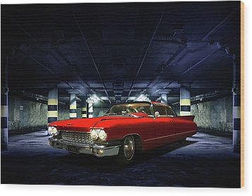 Wood Print featuring the photograph Red Caddie by Steven Agius