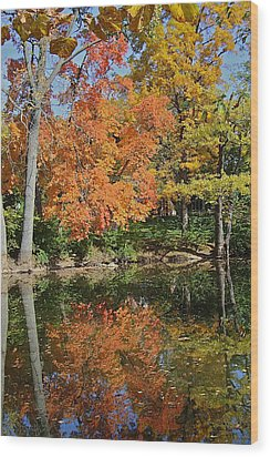 Red Cedar Banks Wood Print