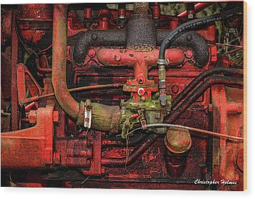 Wood Print featuring the photograph Red by Christopher Holmes