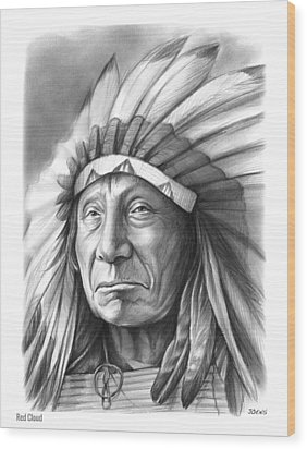 Red Cloud Wood Print by Greg Joens