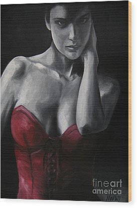 Red Corset Nr.4 Wood Print