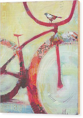 Red Cruiser And Bird Wood Print