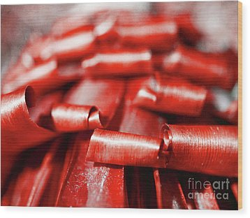 Wood Print featuring the photograph Red Curls by Stephen Mitchell