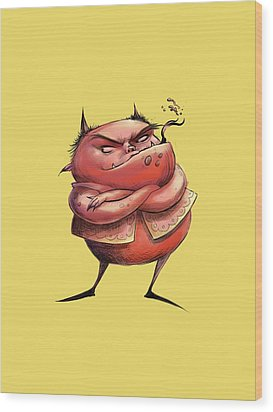 Red Devil Wood Print by Andy Catling